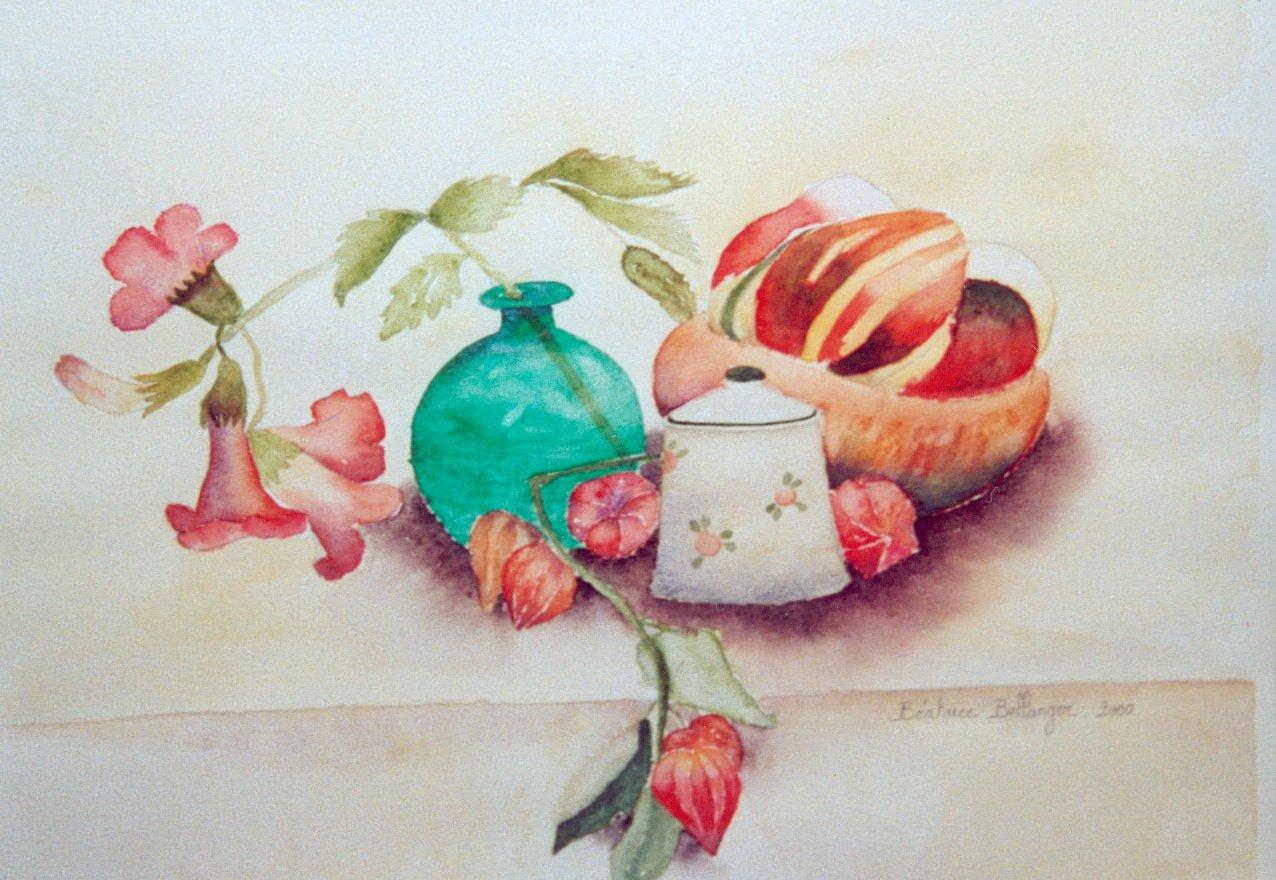 coloquinte et fleurs