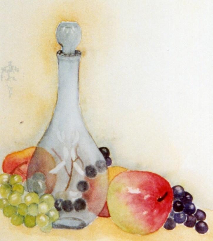 carafe et fruits