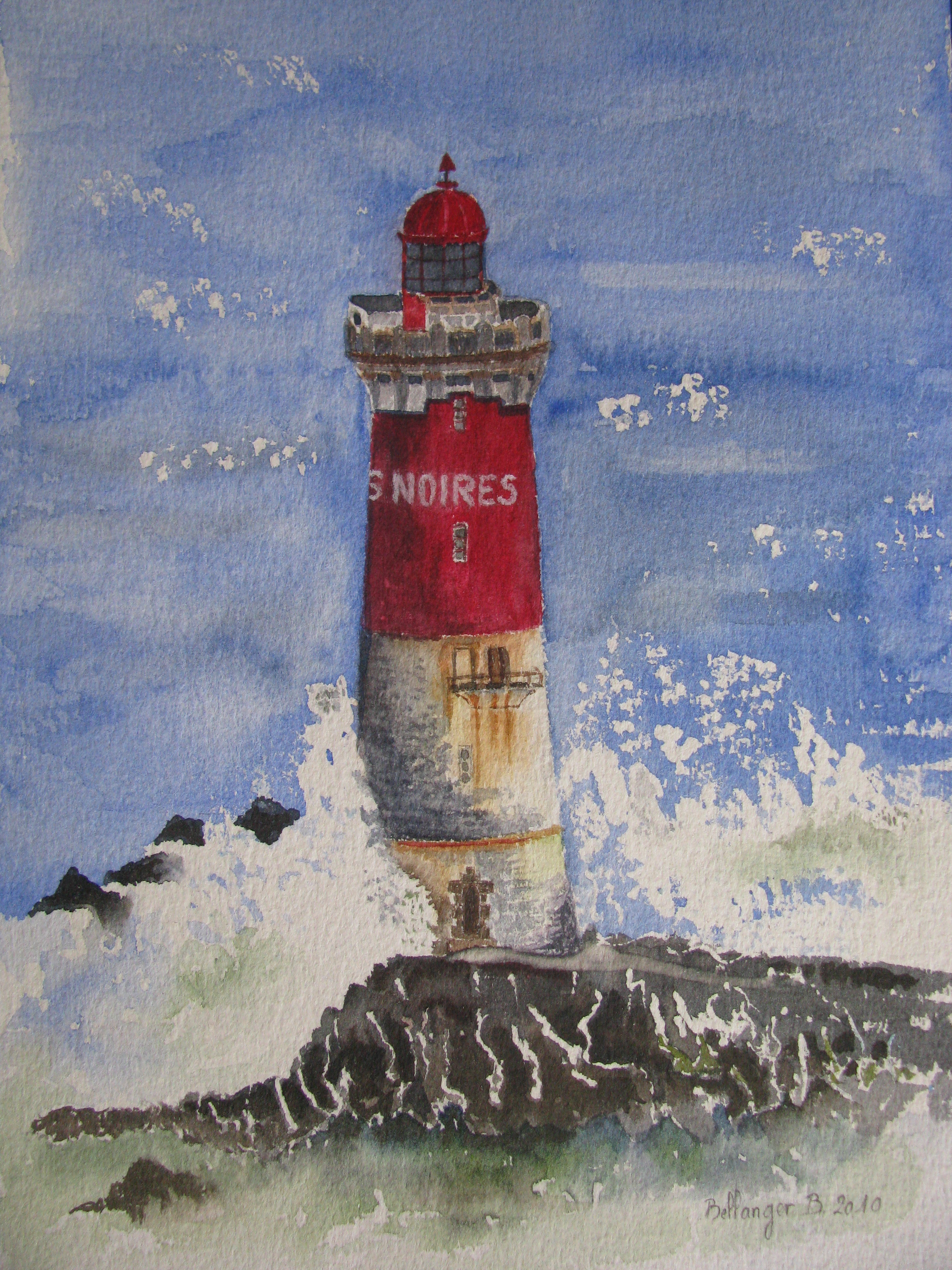 pin tableau peinture mer - photo #20